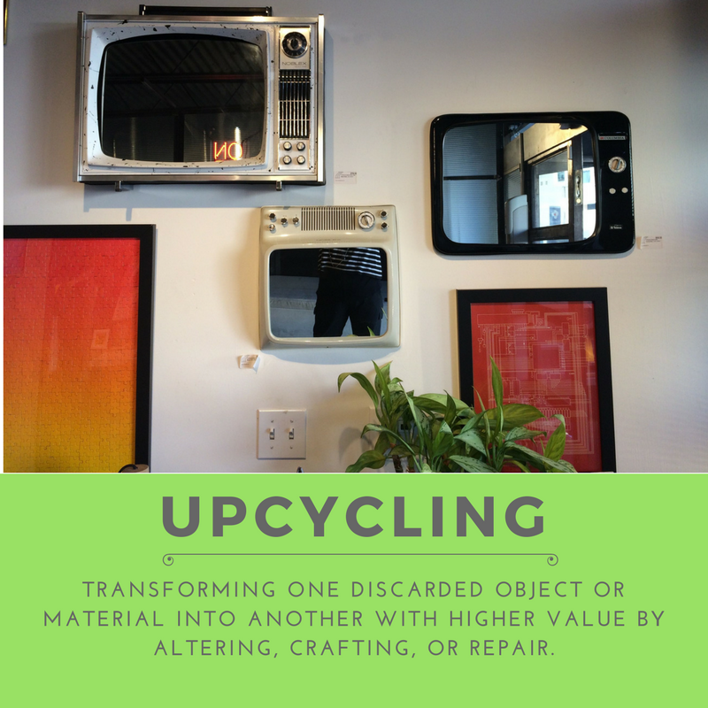 Upcycling can be beautiful and keep items out of the waste stream. Here's some inspiration.